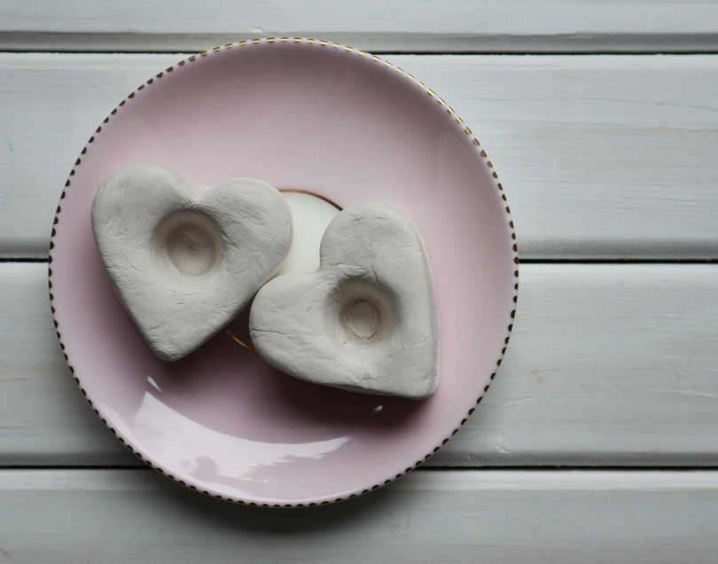 Clay candle holder dried