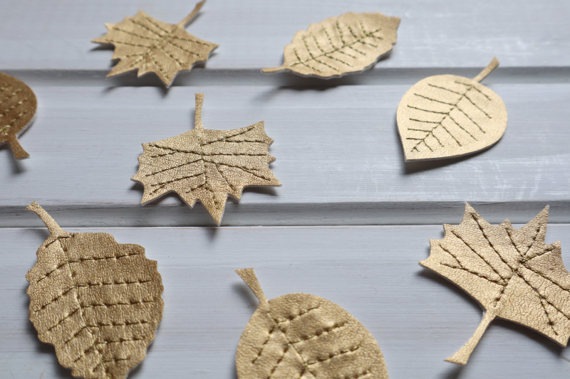 Gold leaves garland leaves cut out 1