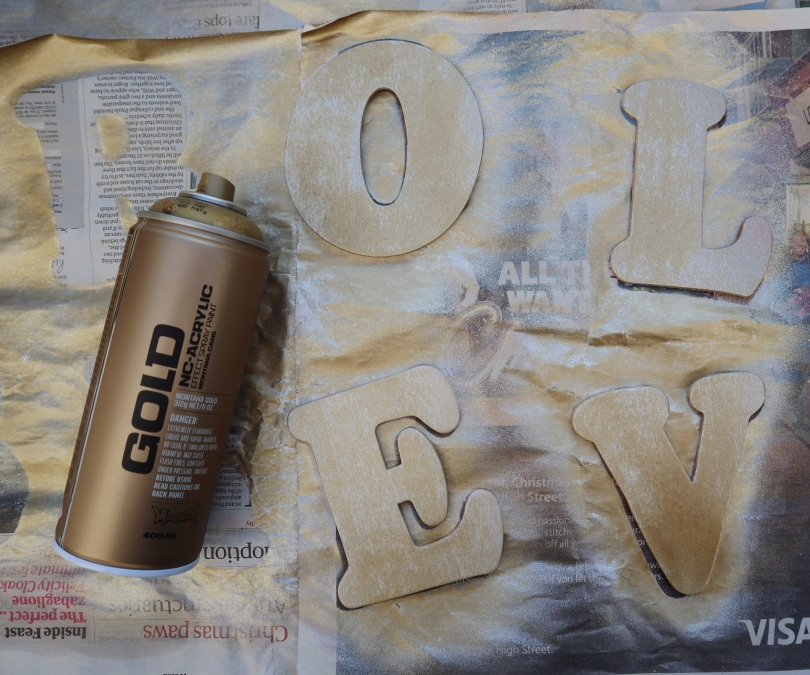 Love letters spray painting