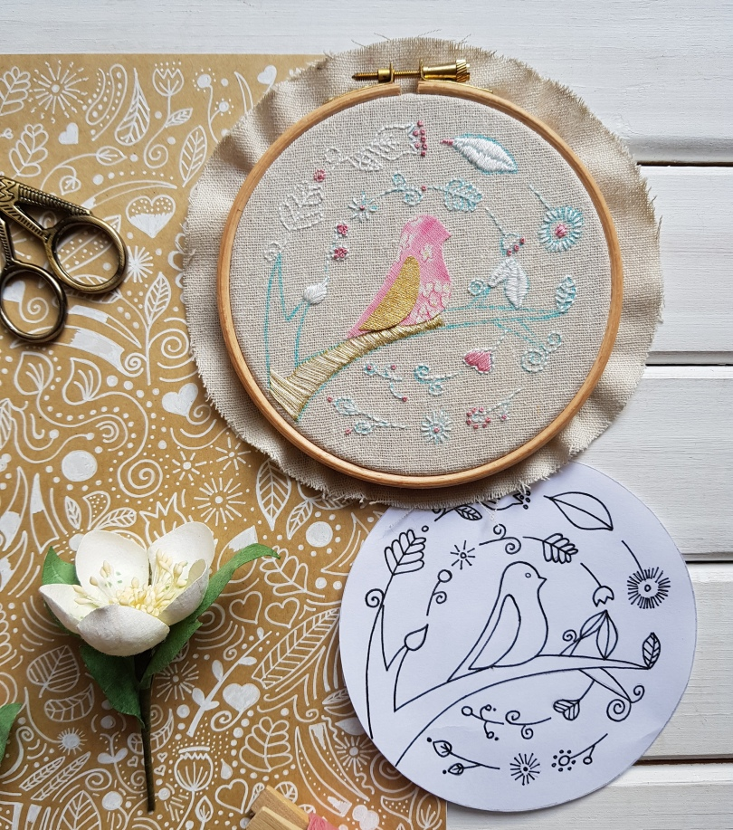 Winter doodle and embroidery