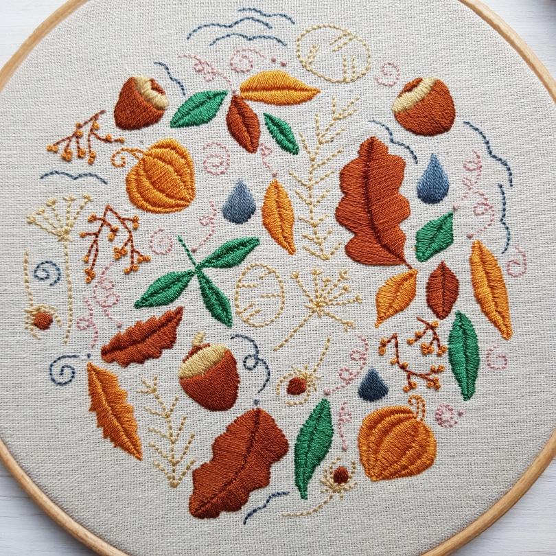Autumn Doodle Hoop colour 2