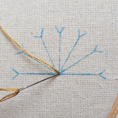 Lazy Daisy Stitch 1