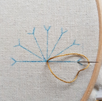 Lazy Daisy Stitch 2