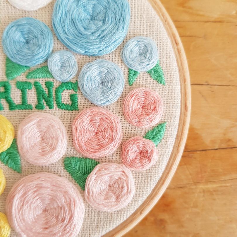 Spring blooms hoop 3