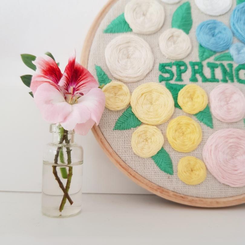 Spring blooms hoop 4
